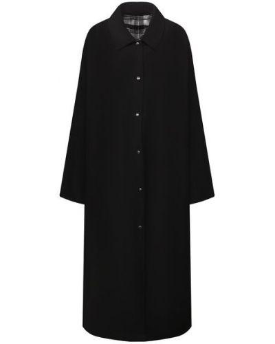 Хлопковый плащ - черный Forte Dei Marmi Couture