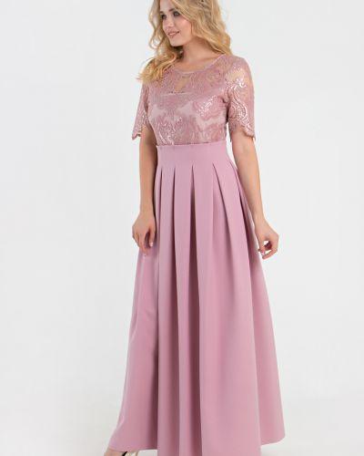 Приталенное платье с пайетками на торжество с вырезом Filigrana