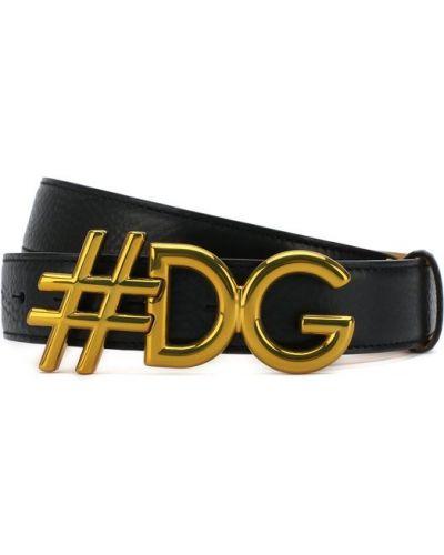 Широкий ремень металлический с логотипом Dolce & Gabbana