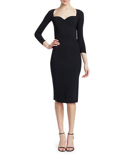 Черное платье-футляр с декольте Chiara Boni La Petite Robe