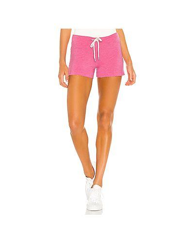 Махровые облегающие розовые шорты винтажные Monrow