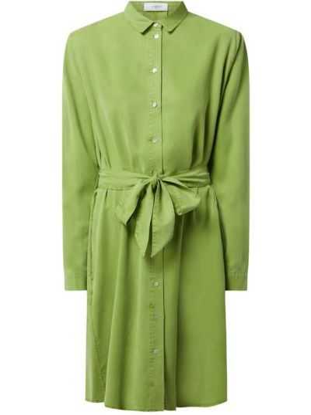 Sukienka rozkloszowana z długimi rękawami - zielona Blonde No. 8
