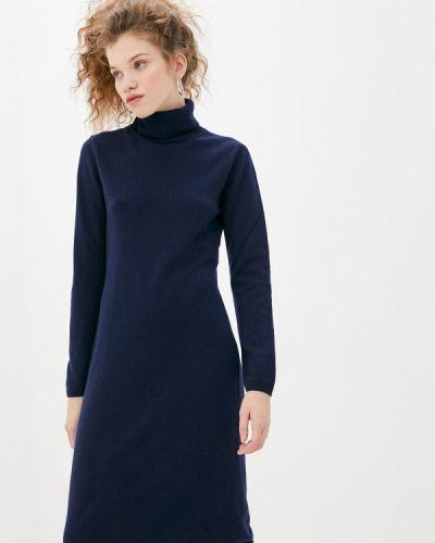 Трикотажное синее вязаное платье United Colors Of Benetton