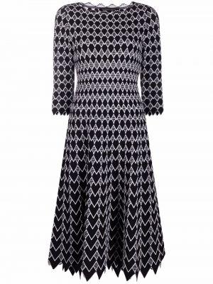 Платье миди с принтом - белое Antonino Valenti