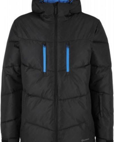 Черная утепленная куртка Glissade