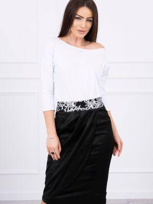 Czarna spódnica elegancka z cekinami Kesi