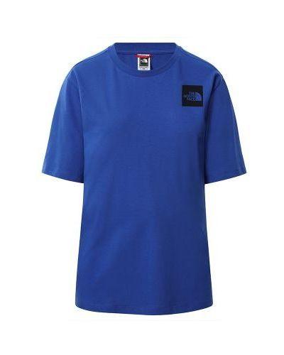 Niebieska koszulka bawełniana The North Face