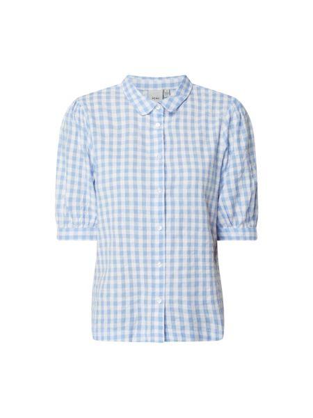 Niebieska bluzka bawełniana krótki rękaw Ichi