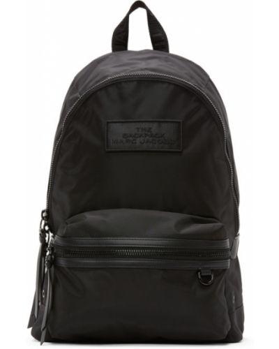 Skórzany plecak brezentowy czarny Marc Jacobs