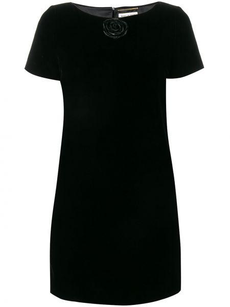 Платье мини на пуговицах прямое Saint Laurent