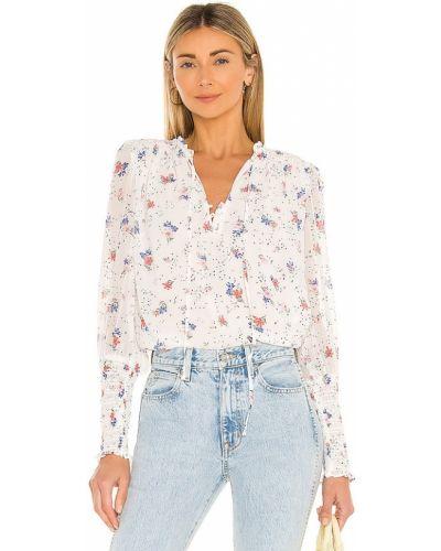 Белая блузка с декольте с манжетами 1. State