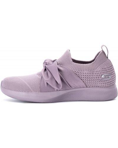 Розовые кроссовки с бантом Skechers