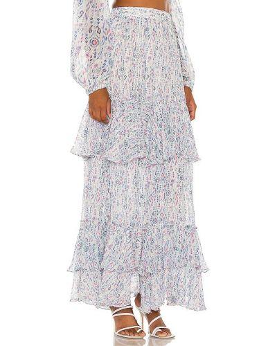 Niebieska spódnica z wiskozy Rococo Sand