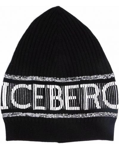 Шапка бини - черная Iceberg