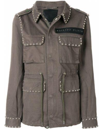 Длинная куртка милитари Philipp Plein