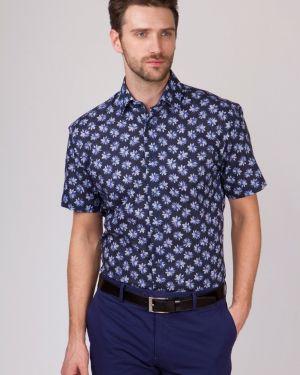 Джинсовая рубашка льняная прямая канцлер