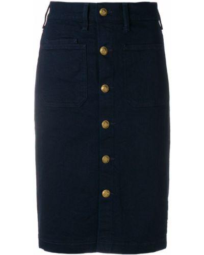 Синяя юбка хлопковая Polo Ralph Lauren