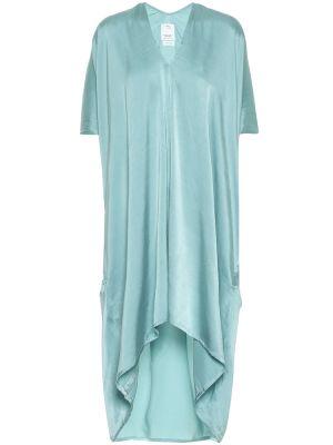 Шелковое синее асимметричное платье миди Visvim