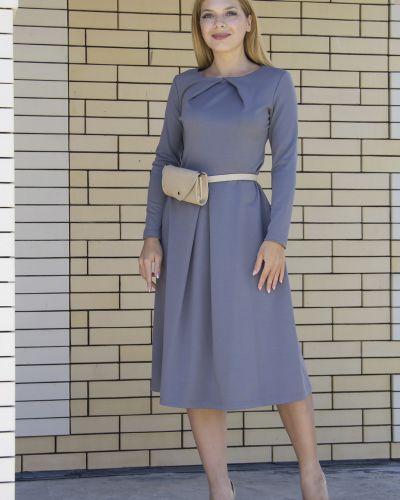 Платье серое платье-сарафан Lautus