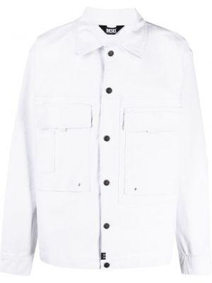 Кожаная белая джинсовая куртка классическая Diesel