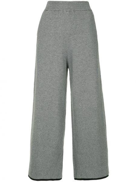 Серые нейлоновые укороченные брюки с поясом свободного кроя Guild Prime