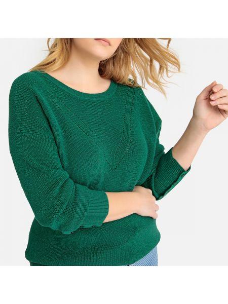 Пуловер с V-образным вырезом на пуговицах Castaluna
