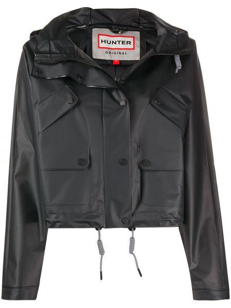 Черная длинная куртка Hunter