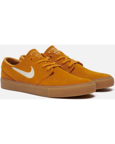 Текстильные коричневые кроссовки с подкладкой Nike Sb