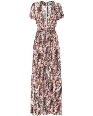 Розовое платье макси из вискозы Melissa Odabash