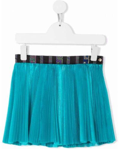 Spódnica plisowana - niebieska Versace Kids