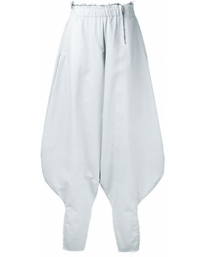 Шелковые белые брюки винтажные с поясом Comme Des Garçons Pre-owned