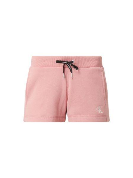 Bawełna bawełna różowy dżinsowe szorty z kieszeniami Calvin Klein Jeans