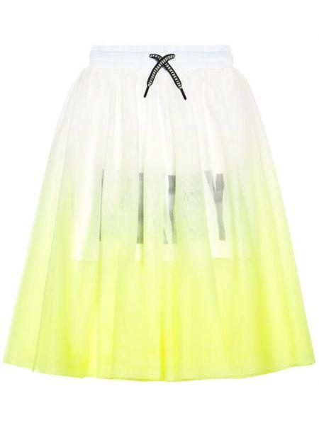 Żółta spódnica Dkny