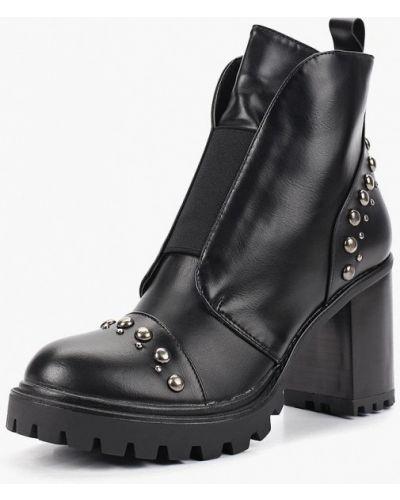 Кожаные ботильоны осенние на каблуке Ideal Shoes®