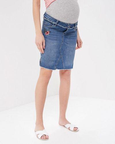 Джинсовая юбка весенняя Mama.licious