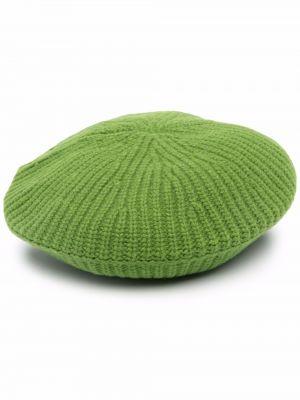 Шерстяной берет - зеленый Ganni