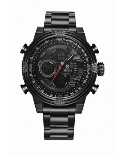 Черные часы Weide