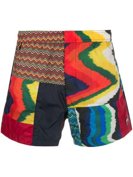 Коричневые спортивные шорты с карманами Missoni