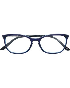 Синие очки кошачий глаз металлические Swarovski Eyewear
