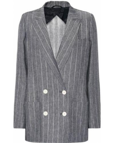 Классический пиджак льняной в стиле кэжуал Max Mara