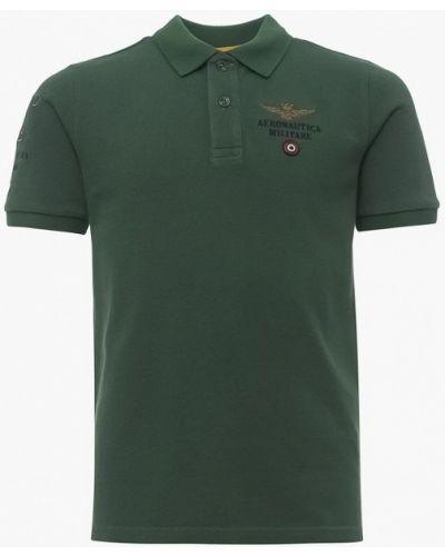 Поло зеленый Aeronautica Militare
