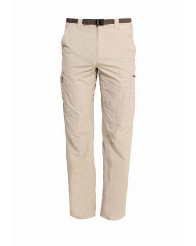 Бежевые прямые брюки Columbia
