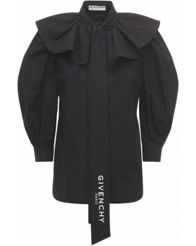 Czarna koszula bawełniana Givenchy