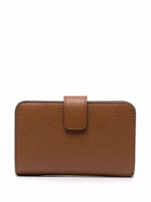 Кожаный кошелек - коричневый Furla