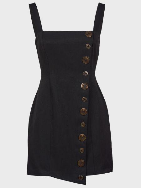 Платье на пуговицах - черное Finders Keepers