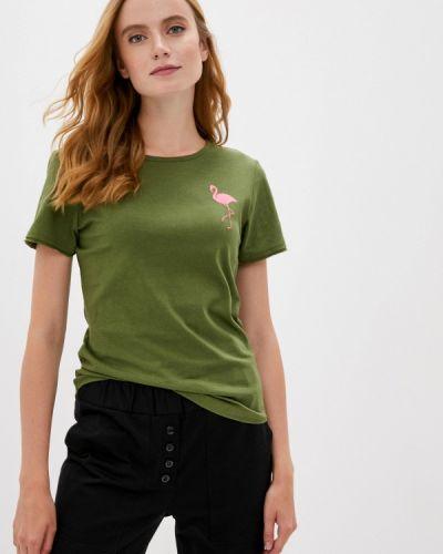 Зеленая с рукавами футболка Sugarlife
