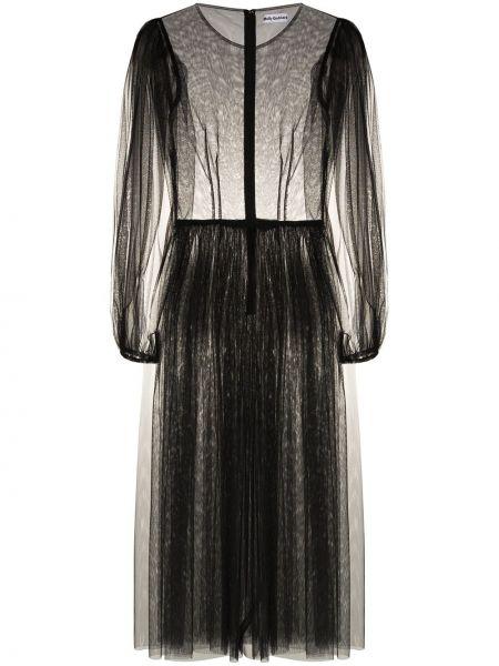 Платье миди из фатина черное Molly Goddard