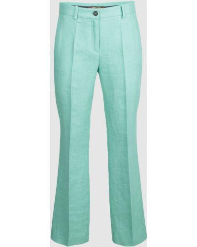 Льняные брюки - мятные Roberto Cavalli