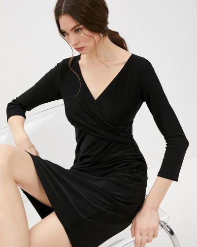 Повседневное черное платье Lauren Ralph Lauren