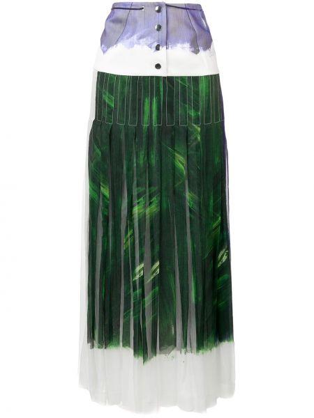 Плиссированная юбка с завышенной талией макси Victoria Beckham